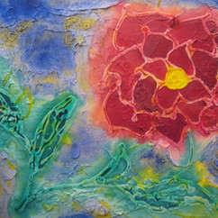 SPRING FLOR 16 X 20  ACRYLIC ON MDF COLLECTION OF HS. PARK