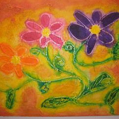 NAUGHTY FLORES 16 X 20 ACRYLIC ON MDF  COLLECTION OF K. SEILER