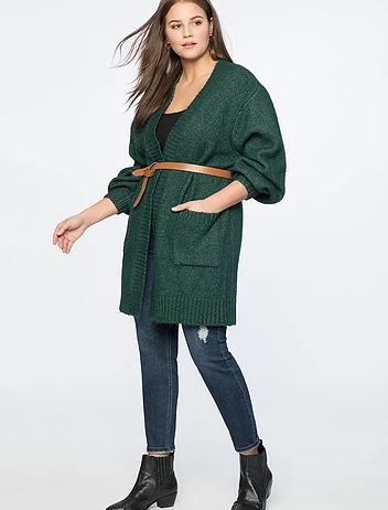 oversized plus size boyfriend cardigan from eloquii