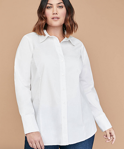 plus size button down