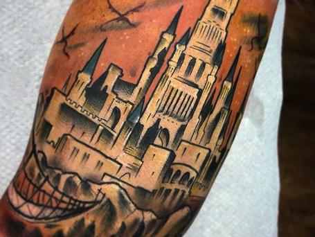 Dragon Aerie by _kyleowen_tattoo _thegra