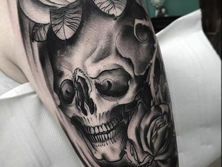 ••skull by _kyleowen_tattoo ☠️