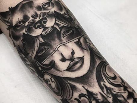 Lady~wolf •• by _kyleowen_tattoo