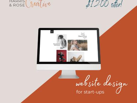Website design offer for small businesses