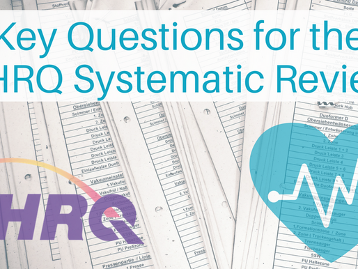 The Key Questions for the AHRQ Systematic Review