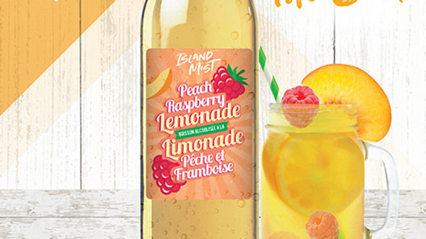 Hard Peach Raspberry Lemonade