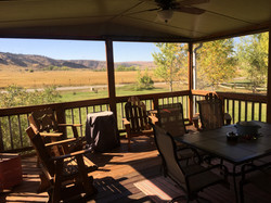 Covered, screened porch for 10-12