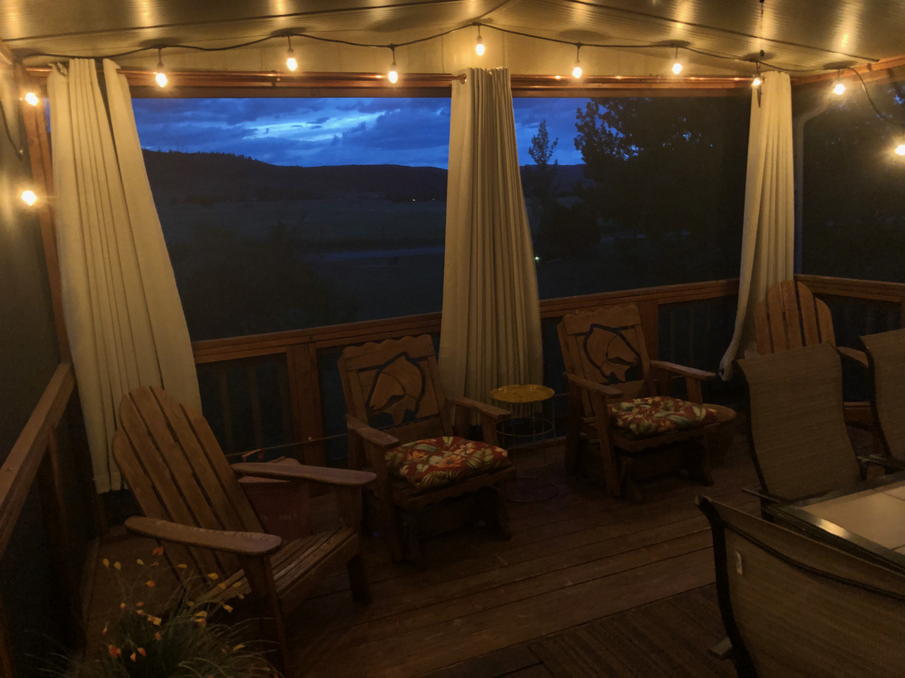 Evenings on Screened porch