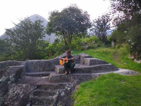 O lorenense corajoso em Machu Picchu