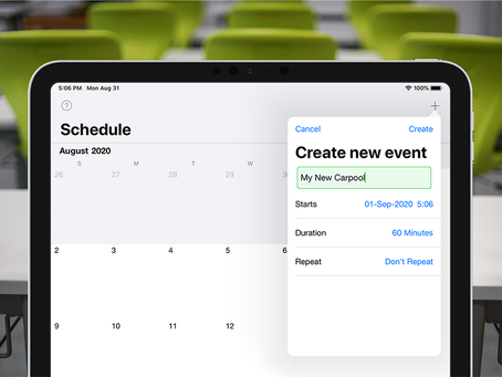Creating and editing your carpool schedule.