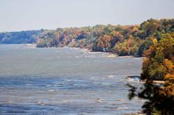 Shoreline looking east