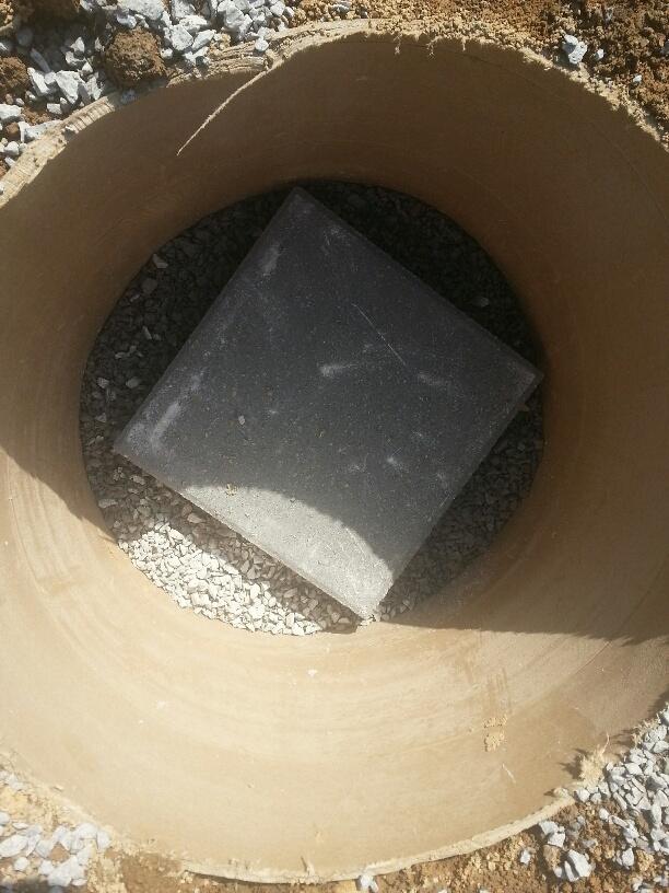 Concrete block in sono tube