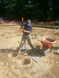 Tamping down gravel