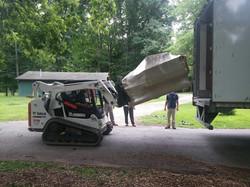 unloading