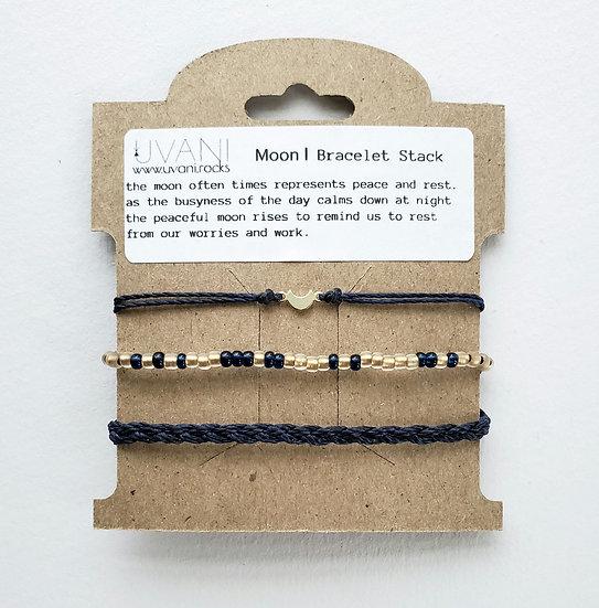 moon | bracelet stack