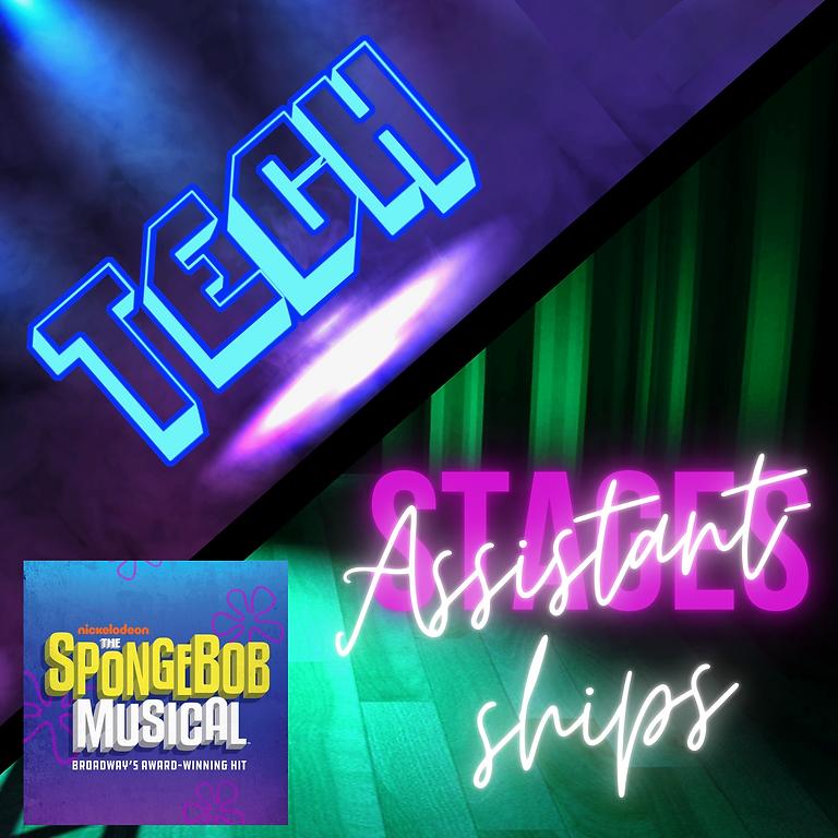 Tech/Assistantships: The SPONGEBOB MUSICAL