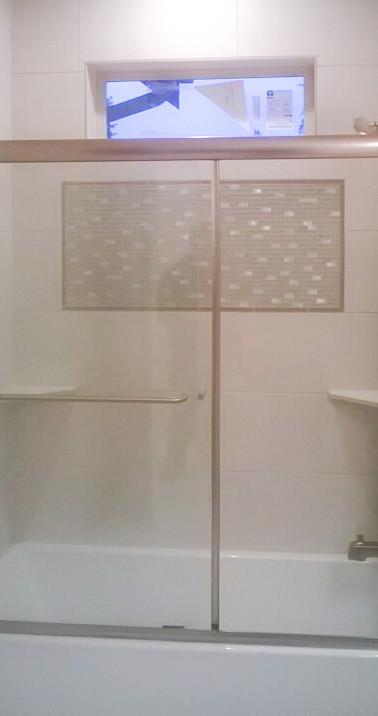Executive Shower Enclosure-Brushed Nickel