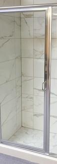 Framed Shower with Stirrup Handle-Chrome