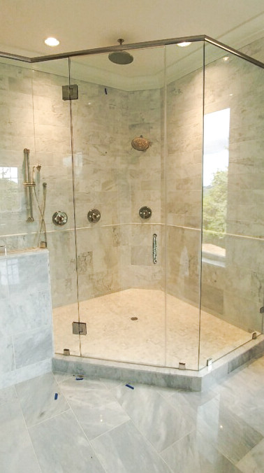 Frameless with Header and Clamps