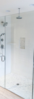 Frameless 3 Unit with Chrome Channel