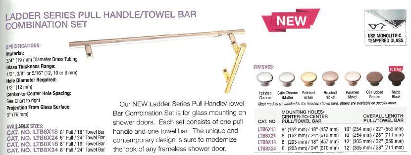 Ladder Handle Towel Bar Combo