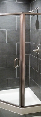 Neo Angle Semi-Frameless Neo Angle Shower-BN