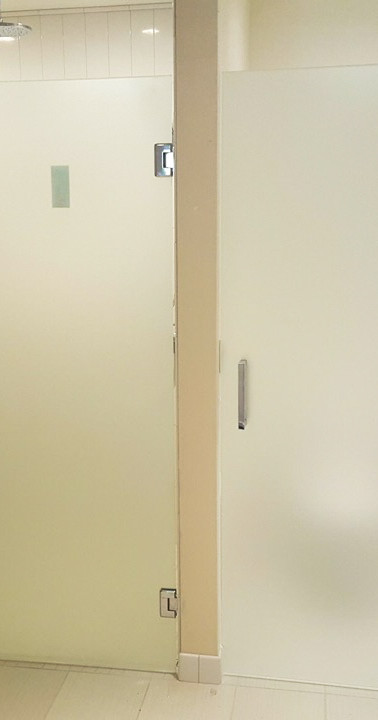 Satin Etch Doors and Panel Frameless-Square Handle