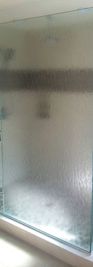 Frameless Shower with Channel and Bubbles glass, Clear Door