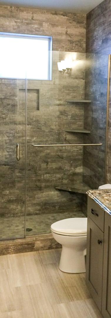 Franekess Shower Door and Panel with Towel Bar