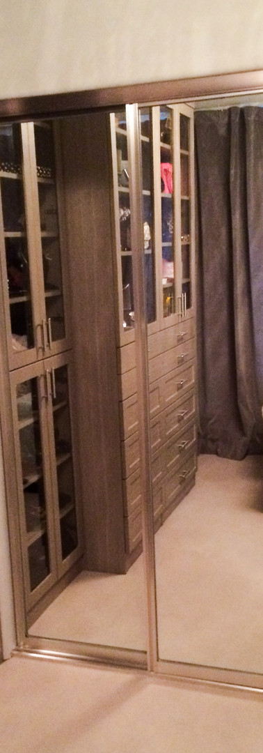 Chrome Mirrored Wardrobe Doors