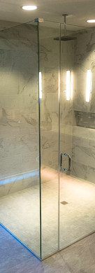 Frameless 90 Degree Shower with Channel