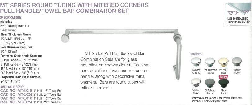 MT Series Handle Towel Bar Combo