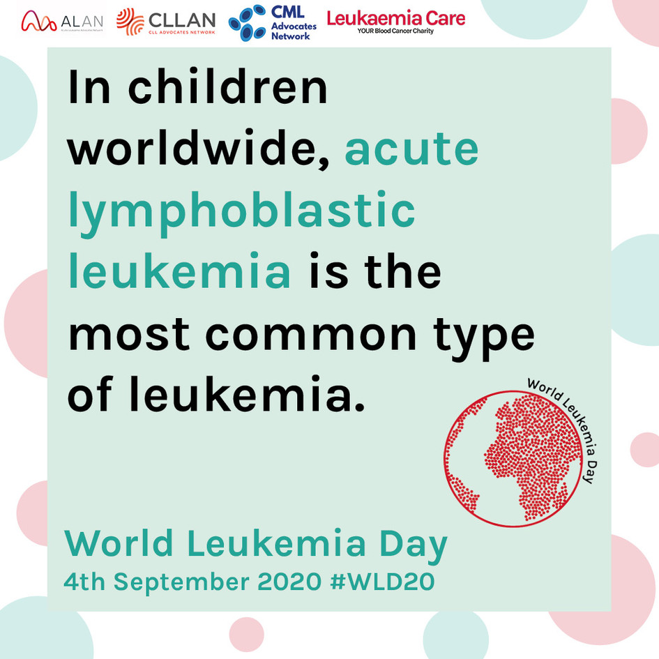 World Leukemia Day Graphic - ALL in Chil