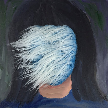 Blue Ice Fur Portrait