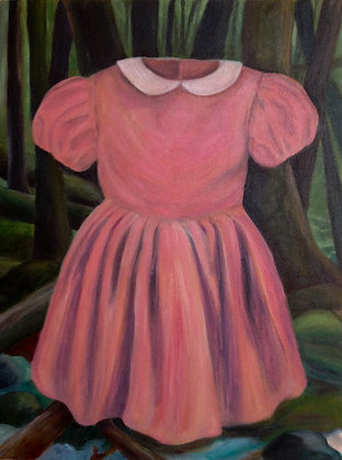Pink Dress in Forest