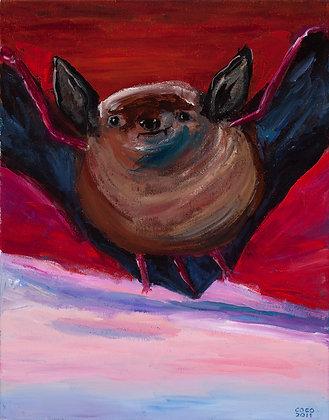 Bat in Red Sky