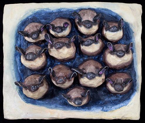 Bat Bas Relief