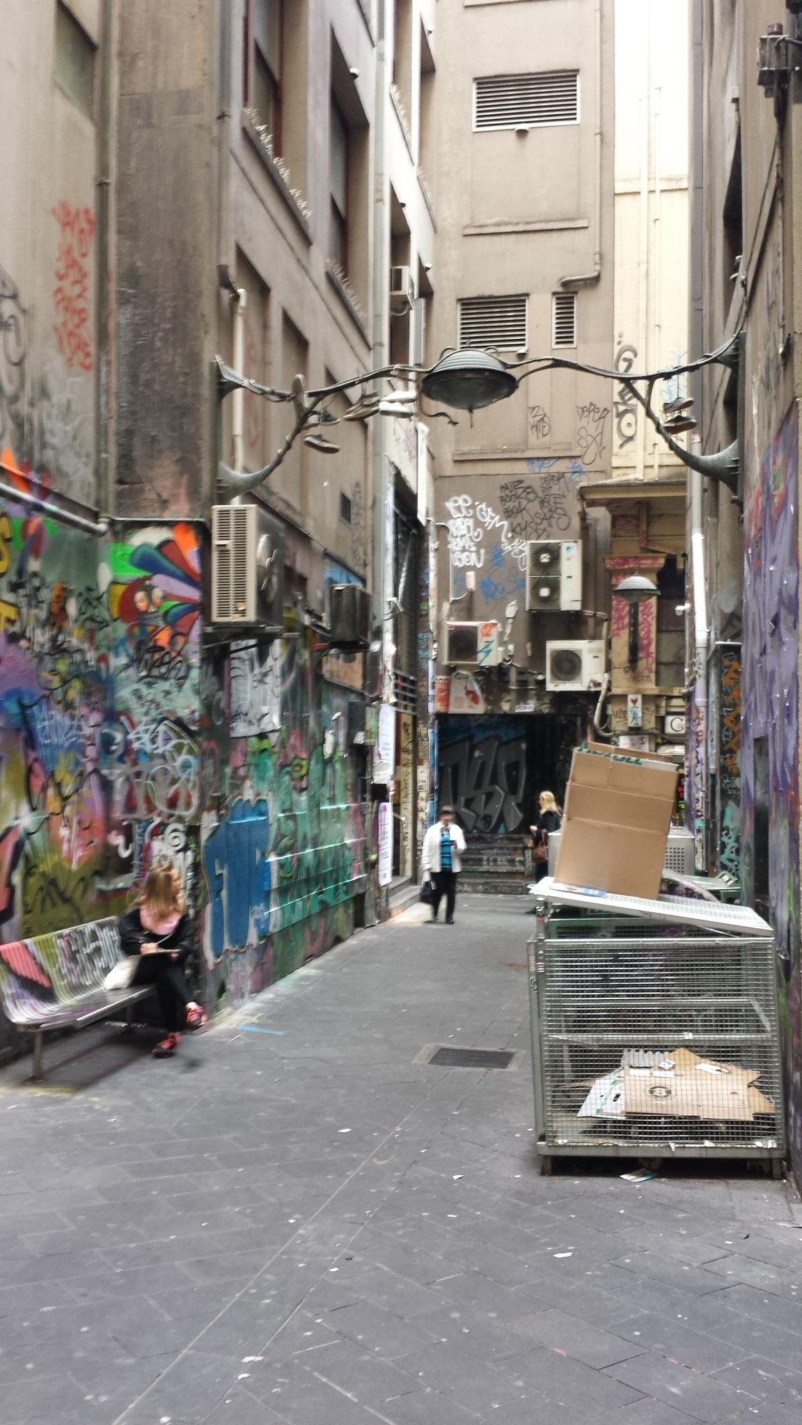 Shelley drawing in the laneway