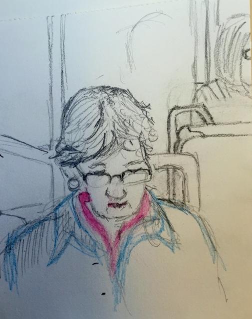 "Fiona Haasz: ""Train passenger"""