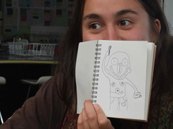"""""""Tiana and her sketch"""""""