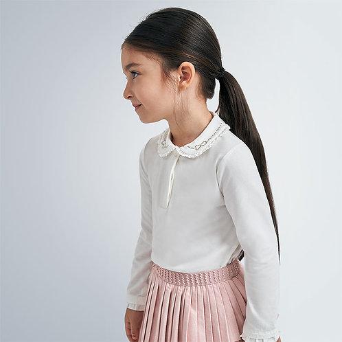 Polo manga comprida básico menina