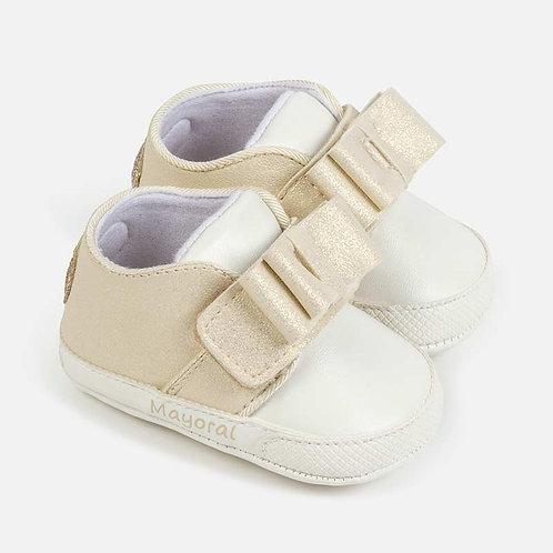 Sapatos laço bebé recém nascida