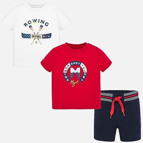 Conjunto t-shirts e calção bebé menino