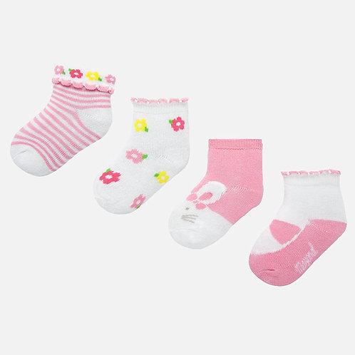 Set meias bebé menina recém nascida