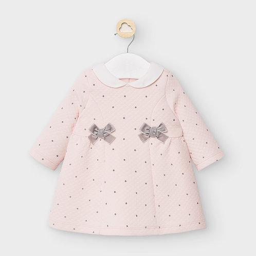 Vestido acolchoado bolinhas recém nascida menina