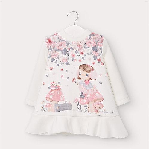 Vestido felpa desenho bebé menina