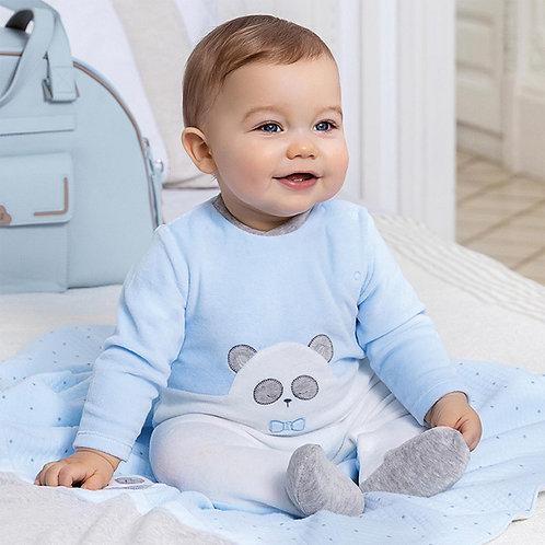 Pijama aveludado recém nascido menino