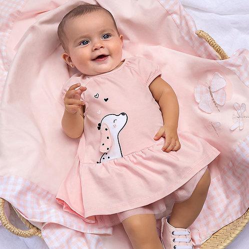 Vestido malha recém nascida menina