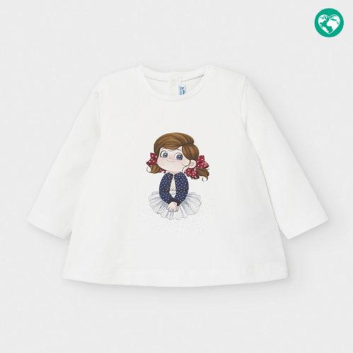 Camisola manga comprida bebé menina