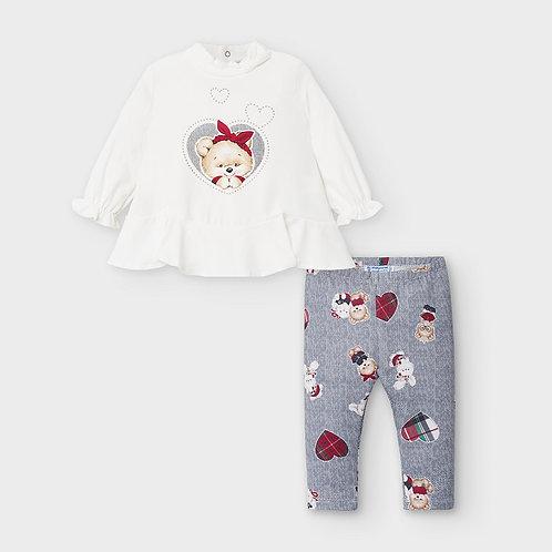 Conjunto leggings bebé menina
